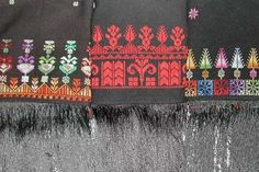 palestinian embroidery shawl Palestinian Embroidery, Stitches, Shawl, Cross Stitch, Objects, Spirit, Traditional, Costumes, Sewing