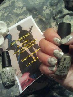acu nail, military nail design, Nailart, nail design, wedding, military wedding, camouflage nails Military Nails, Camouflage Nails, Military Wedding, Beauty Trends, Wedding Pictures, Nailart, Nail Designs, Army, Invitations