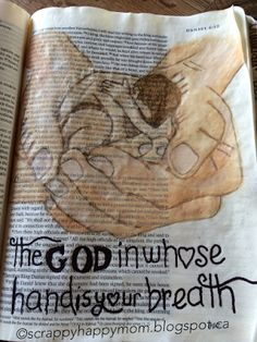 .....Scrappy Happy Mom: Bible Journaling Pages! A page from the book of Daniel. More pages on the blog!