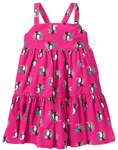 Toddler Girls Bright Flamingo Toucan Tier Dress by Gymboree
