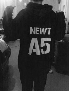 I NEED THIS HOODIE IN MY LIFE. Newt's tattoo in The Scorch Trials said Property of WICKED Group A  Subject A5 The Glue