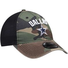 36dc9607f Men's Dallas Cowboys New Era Camo Rugged Stack Trucker 9TWENTY Adjustable  Snapback Hat