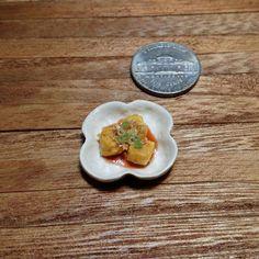 #揚げ出し豆腐 #agedashitofu #tofu #tsumami #japanesefood  #handmade #claywork #miniature #fakefood
