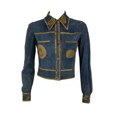 Early Roberto Cavalli Suede Patchwork Shirt 1