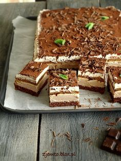 Ciasto Kubanka Sweet Desserts, Sweet Recipes, Delicious Desserts, Cake Recipes, Polish Desserts, Polish Recipes, Kolaci I Torte, Different Cakes, How Sweet Eats