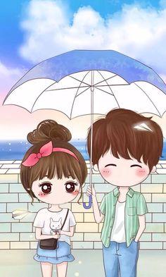 Chibi Couple Wallpaper