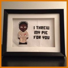 Crazy Eyes Orange is the New Black cross-stitch - make your own with supplies from http://shop.vibesandscribes.ie/