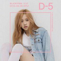 Black Pink Rosé teaser photo D-5  #blackpink #rose #ygfamily #yg #d5