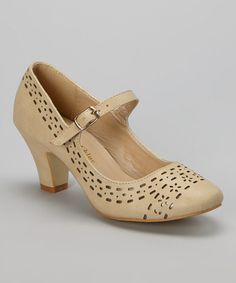 Another great find on #zulily! Nude Mina Mary Jane by Chase & Chloe #zulilyfinds