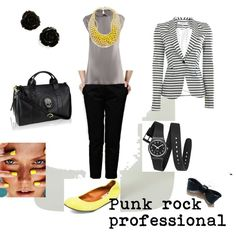 Punk rock professional, created by michellemiller-1 on Polyvore