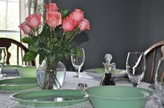 Setting the table with my jadeite