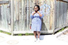 The Blue Striped Shirt Dress — Beverly Kesse Stripped Shirt, Striped Shirt Dress, Summer Dresses, Blue, Shirts, Style, Fashion, Striped Jersey, Swag