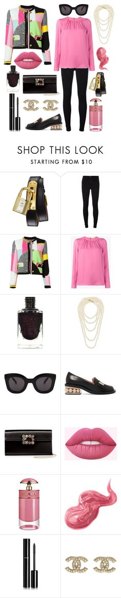 """""""Let's learn to walk before we run."""" by theodor44444 ❤ liked on Polyvore featuring Hermès, 7 For All Mankind, Moschino, Etro, Chanel, CÉLINE, Nicholas Kirkwood, Roger Vivier, Prada and Bobbi Brown Cosmetics"""