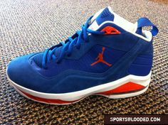 The new Camelo Anthony blue suede Jordan's.