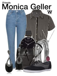 """""""Friends"""" by wearwhatyouwatch ❤ liked on Polyvore featuring City Chic, Topshop, Olivia Burton, Diane Von Furstenberg, Kara, Keds, Tiffany & Co., television and wearwhatyouwatch"""