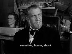 Vincent price in The Wax Museum
