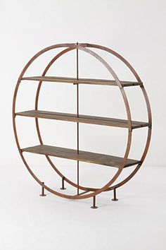 beautiful art deco meets industrial bookcase from anthropology