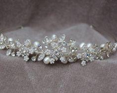 Strass & Pearl Handmade Stirnband / Bridal Headpiece / Wedding Tiara oder Stirnband