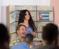 """Camila Cabello and J Balvin behind the scenes for the """"Hey Mama"""" video shoot"""