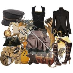 Steampunk Pirate, Created by oceanofglass on Polyvore