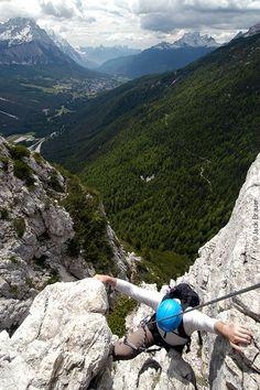 Col Rosa Via Ferrata  Dolomites, Italy, province of Belluno , Veneto