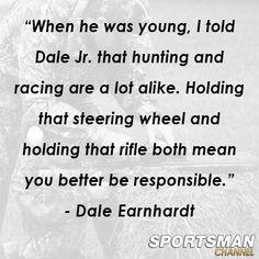 Dale Earnhardt on hunting