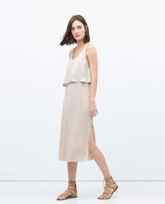ZARA - WOMAN - LONG DOUBLE LAYER DRESS