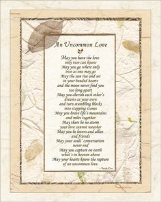 Wedding Poem UNCOMMON LOVE 8x10 Wedding by HeavenandEarthWorks, $18.00