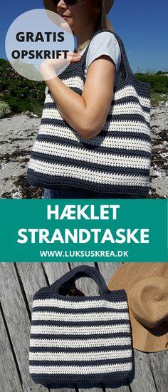 Bomuld, Straw Bag, Crochet Hats, Creative, Bags, Inspiration, Fashion, Knitting Hats, Handbags