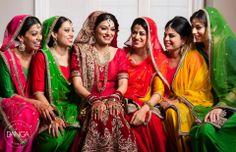 Punjabi Bride with her Bridesmaids