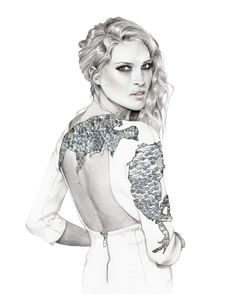 Fashion Pencil Sketches | art, beautiful, fashion illustration, model, pencil, sketch - image ...