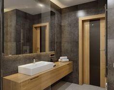 Dom na przedmieściach - Średnia łazienka, styl nowoczesny - zdjęcie od Manufaktura Projektów