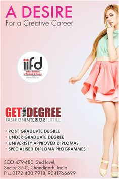 Join The Best Institute Of Fashion Designing Get More Info Iifdin Iifd Chandigarh Mohali Punjab