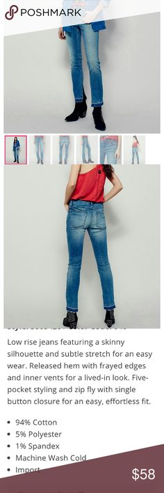 👖NWOT Free people skinny jeans👖 Low rise denim skinny jeans. See pic #3 for more details. NWOT ✈🎁 Free People Jeans Skinny