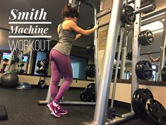 Video – Workout and Exercises on a Smith Machine Women