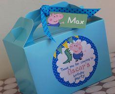 Personalised Childrens PEPPA Pig GEORGE Pig por OrangePaperDuck