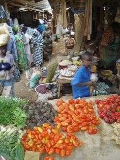Colourful market in N'Gaoundere, Cameroon