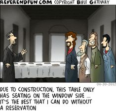 Reverend Fun contains hundreds of the best cartoons. All of the cartoons are reproducible and the purchase of the book comes with permissions for reproduction for church bulletins, newsletters, and for personal use. Christian Cartoons, Christian Humor, Bible Cartoon, Religion Humor, Bible Humor, Church Humor, Clean Jokes, History Memes, Friday Humor