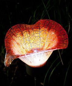 Red Calla Lily Solar Stake