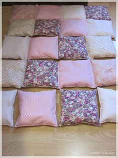 18 Trendy Ideas For Patchwork Quilt Patterns Spanish Puff Quilt, Rag Quilt, Bed Cover Design, Bubble Quilt, Patchwork Quilt Patterns, Crazy Patchwork, Patch Quilt, Diy Home Crafts, Diy Pillows