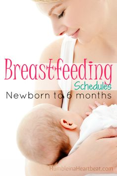 Sometimes it's hard to gauge the waters of breastfeeding without other moms sharing their experiences. Here are sample schedules I followed to breastfeed my babies from birth to 6 months.