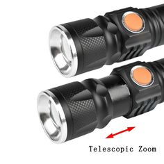 Zoomable T6 LED Light 8000 LM Tactical USB Rechargeable Flashlight 3 Mode Mini Lamp Torch Zoom Adjustable Lantern Camp A391