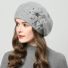 1401e2869ca 2017 winter hats for women hat with rhinestones rabbit fur hats for women s  knitted hat beanie