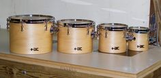 https://flic.kr/s/aHskrXyCmv | Concerts in Avon | Tube lugs over natural maple makes for a beautiful set of single headed toms!  6x6, 7x8, 8x10, 9x12; plied maple, satin wax.  To see more pix, and search our entire TreeHouse archive for your favorite specs, visit our photo gallery:http://www.flickr.com/photos/treehousedrums/collections/
