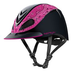 Troxel Fallon Taylor Helmet - Pink Bandana is an excellent product we know our customers will love. Take a ride on the wild side! Horse Riding Helmets, Riding Hats, Riding Clothes, Equestrian Outfits, Equestrian Style, Equestrian Fashion, Fallon Taylor, Used Saddles, Safety Helmet