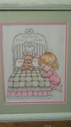 Bedtime Prayer Girl Birth Record  by Design Works