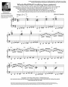 Motivate Piano Students to Play Piano with a Whole Half Half Walking Bass Pattern Music Guitar, Piano Music, Sheet Music, Piano Jazz, Music Writing, Music Score, Art Lessons Elementary, Music Theory, Teaching Music
