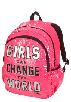 89c86a2463 Justice is your one-stop-shop for on-trend styles in tween girls clothing    accessories. Shop our Sequin Change the World Backpack.