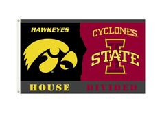 Iowa Hawkeyes / Iowa State Cyclones Rivalry Flag 3x5