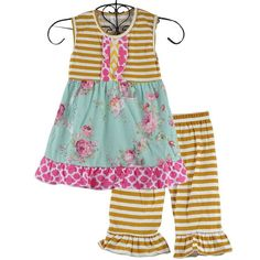 245ff8d83 Jane Chevron Floral Stripe 2pc Set